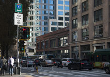 Seattle-Radwegprogramm während des Verkehrs Lizenzfreie Stockbilder
