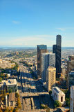 Seattle rooftop view. With city urban architecture Royalty Free Stock Photography