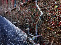 Seattle's Famous Gum Wall Royalty Free Stock Images