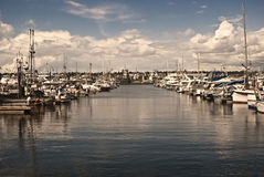 Seattle's Fishing Harbor. A view of Seattle's Fishing Harbor stock images