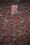 Gum wall with No Parking sign. Seattle`s gum wall under the pike place market with a no parking sign stock photography