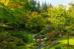 Japanese Garden in Seattle`s Washington Park Arboretum. In Seattle`s Washington Arboretum Park Royalty Free Stock Images