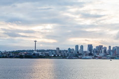 Seattle from Sea at Dawn Royalty Free Stock Photo