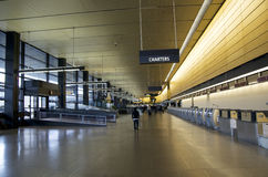 Seattle Sea-Tac Airport interiors. Seattle-Tacoma Intonational Airport is one of the busiest airports in the US stock images