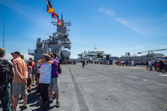 Seattle Seafair tourist on the USS Boxer Stock Photo