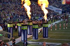 Seattle Seahawk Doug Baldwin prennent le champ Photographie stock libre de droits