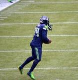 Seattle Seahawk que corre para trás Marshawn Lynch Fotografia de Stock