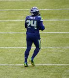 Seattle Seahawk Running Back Marshawn Lynch Royalty Free Stock Photos
