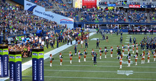 NFL Seattle Seahawks take the field Stock Photos