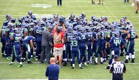Seattle Seahawks do futebol do NFL Fotografia de Stock Royalty Free