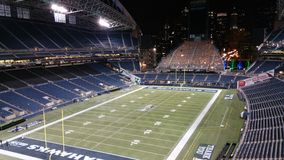 Seattle Seahawks football field centrelink field Royalty Free Stock Image