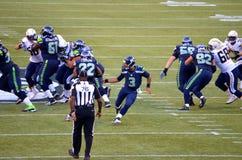 Seattle seahawks gegen New York Jets San Diego Chargers Lizenzfreies Stockbild