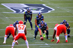 Seattle Seahawks VERSUS Kansas City Chiefs Stock Foto's
