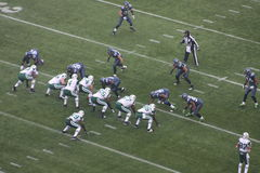 Seattle seahawks versus New York stralen Stock Foto's
