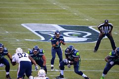 Seattle seahawks versus New York stralen San Diego Chargers Stock Foto