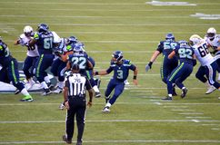 Seattle seahawks versus New York stralen San Diego Chargers Royalty-vrije Stock Afbeelding