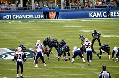 Seattle seahawks versus New York stralen San Diego Chargers Stock Fotografie