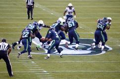 Seattle seahawks versus New York stralen San Diego Chargers Stock Fotografie