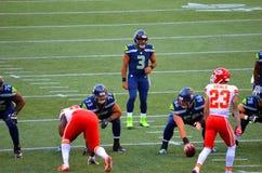 Seattle Seahawks VS Kansas City Chiefs Fotografering för Bildbyråer