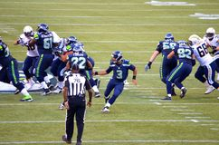 Seattle Seahawks vs san diego chargers Zdjęcie Royalty Free