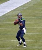 Seattle SeahawksQuarterback Russel Wilson royaltyfri foto