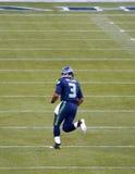 Seattle SeahawksQuarterback Russel Wilson arkivbilder