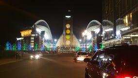Seattle Seahawksstadion tidigt på morgonen söndag Arkivfoto