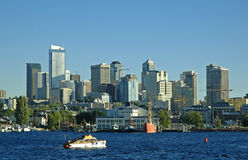 Seattle Skyline. Downtown Seattle from Lake Union Stock Photos