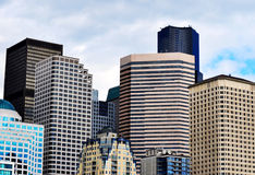 Seattle Skyline. With high rise buildings Royalty Free Stock Images