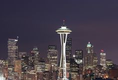 Seattle skyline. Seattle scenic skyline at twilight Royalty Free Stock Photos