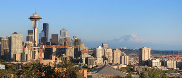 Seattle skyline. As viewed from Kerry Park in Seattle, Washington state Royalty Free Stock Images