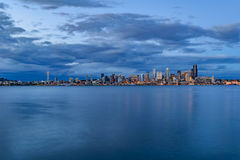 Free Seattle Skyline At Dusk Stock Photography - 94891612
