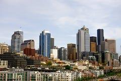 Seattle Skyline Beyond Condos Stock Photos