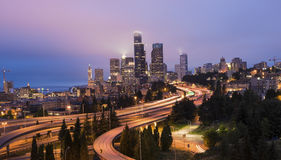 Seattle Skyline at Dawn Stock Photos