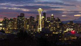 Seattle Skyline at Dawn Royalty Free Stock Photography