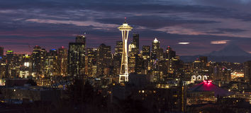 Seattle Skyline at Dawn Stock Image