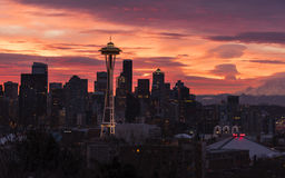 Seattle Skyline at Dawn Royalty Free Stock Photos