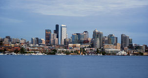 Seattle Skyline Downtown Office Buildings Nautical Royalty Free Stock Photo