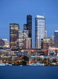 Seattle Skyline Downtown Office Buildings Nautical Stock Images
