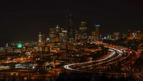 Seattle skyline from Dr. Jose Rizal Park Royalty Free Stock Photo