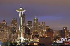 Seattle Skyline at Dusk Royalty Free Stock Image