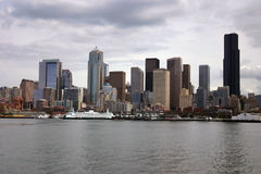 Seattle skyline with ferry Stock Image