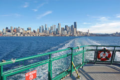 Seattle Skyline from the Ferry Stock Photography