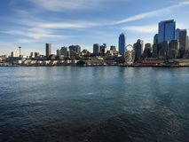 Seattle Skyline from Ferry Royalty Free Stock Photos
