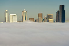 Seattle Skyline in the Fog Royalty Free Stock Photos
