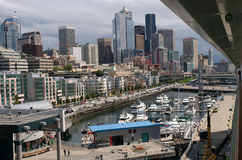 Seattle Skyline and Harbor Stock Photo