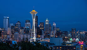 Seattle skyline from Kerry Park Royalty Free Stock Images