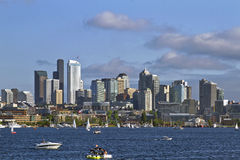 Seattle Skyline on Lake Union Royalty Free Stock Photo