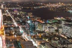 Free Seattle Skyline Lake Union At Night Royalty Free Stock Image - 82119586