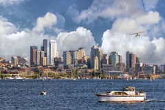 Seattle Skyline from Lake Union Stock Photos